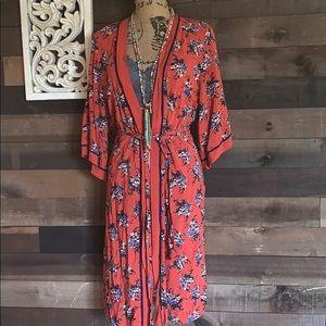 Boho kimono robe